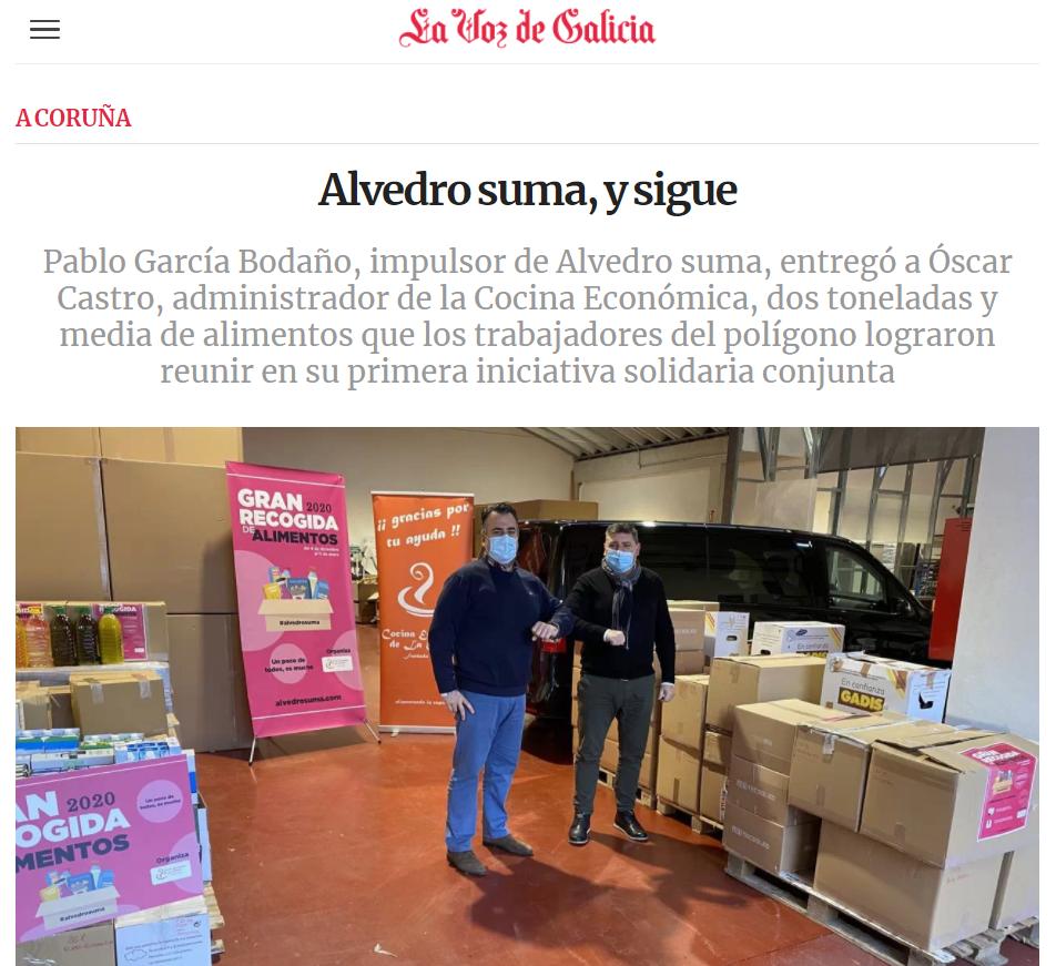 Noticia la voz de galicia 17 enero